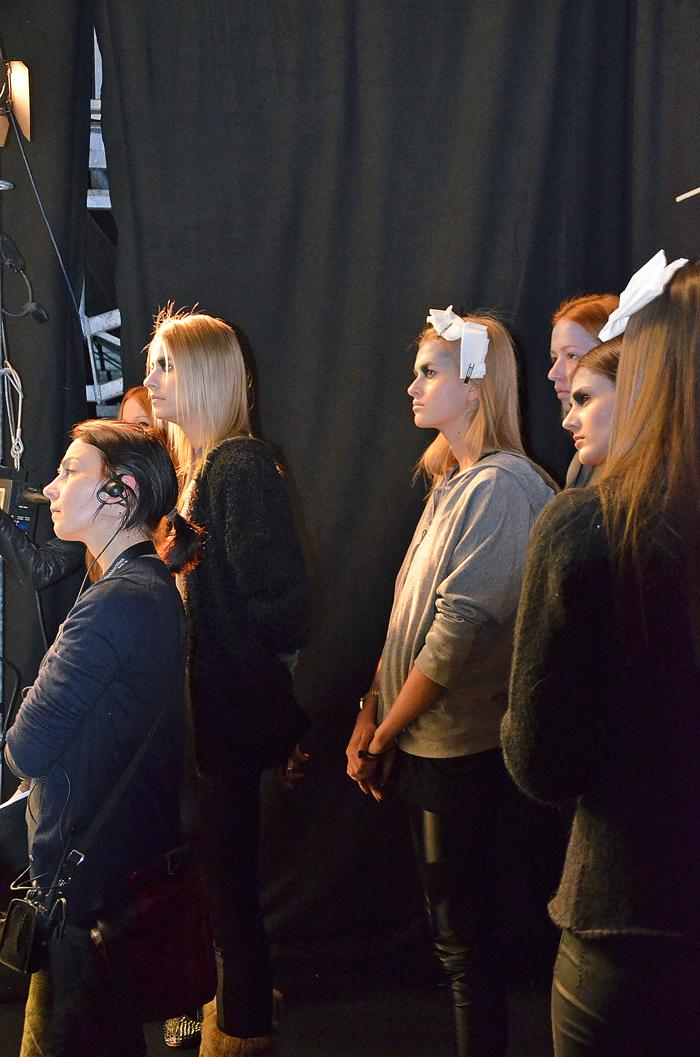 Backstage Fashion Week Berlin Models