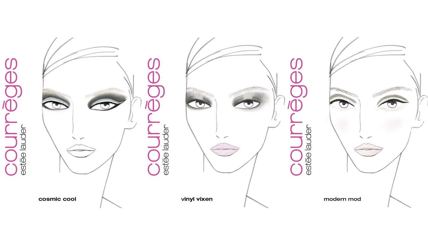 Facechart Courrèges Estée Lauder Collection