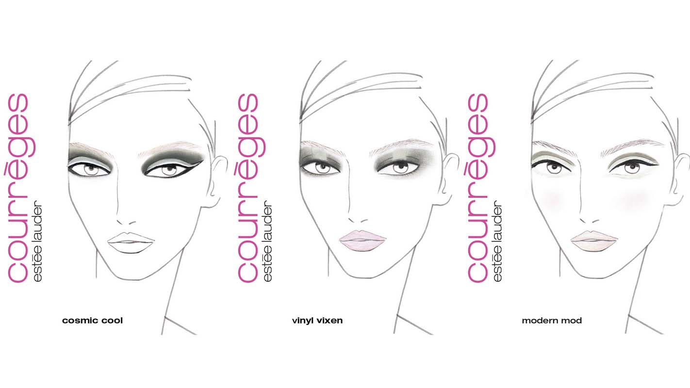 Facechart Courrèges Estée Lauder Collection