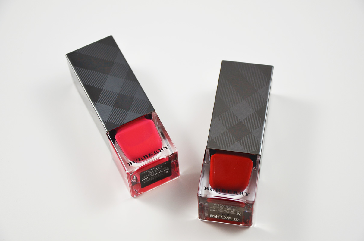 Burberry Bright Nail Polish Coral Red