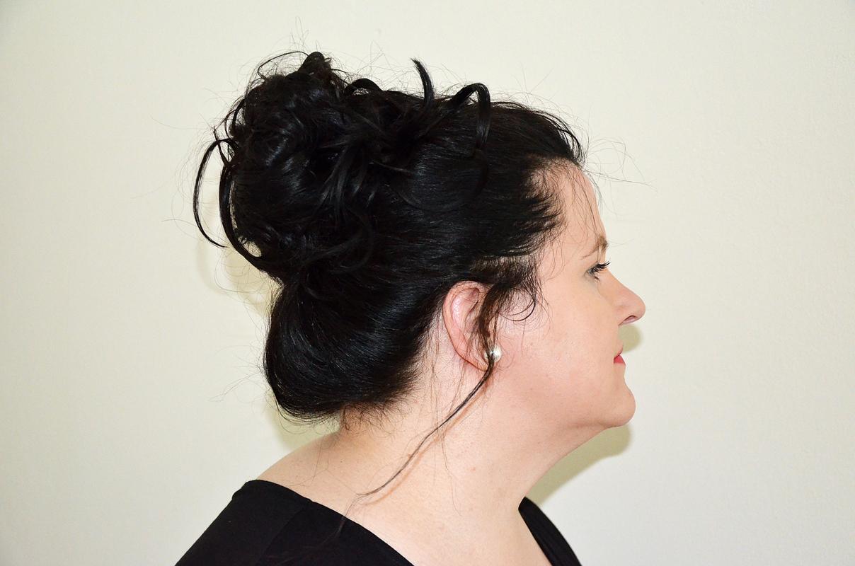 Haare zusammengesteckt