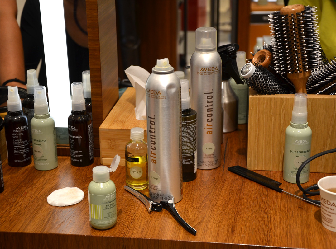 Aveda Counter